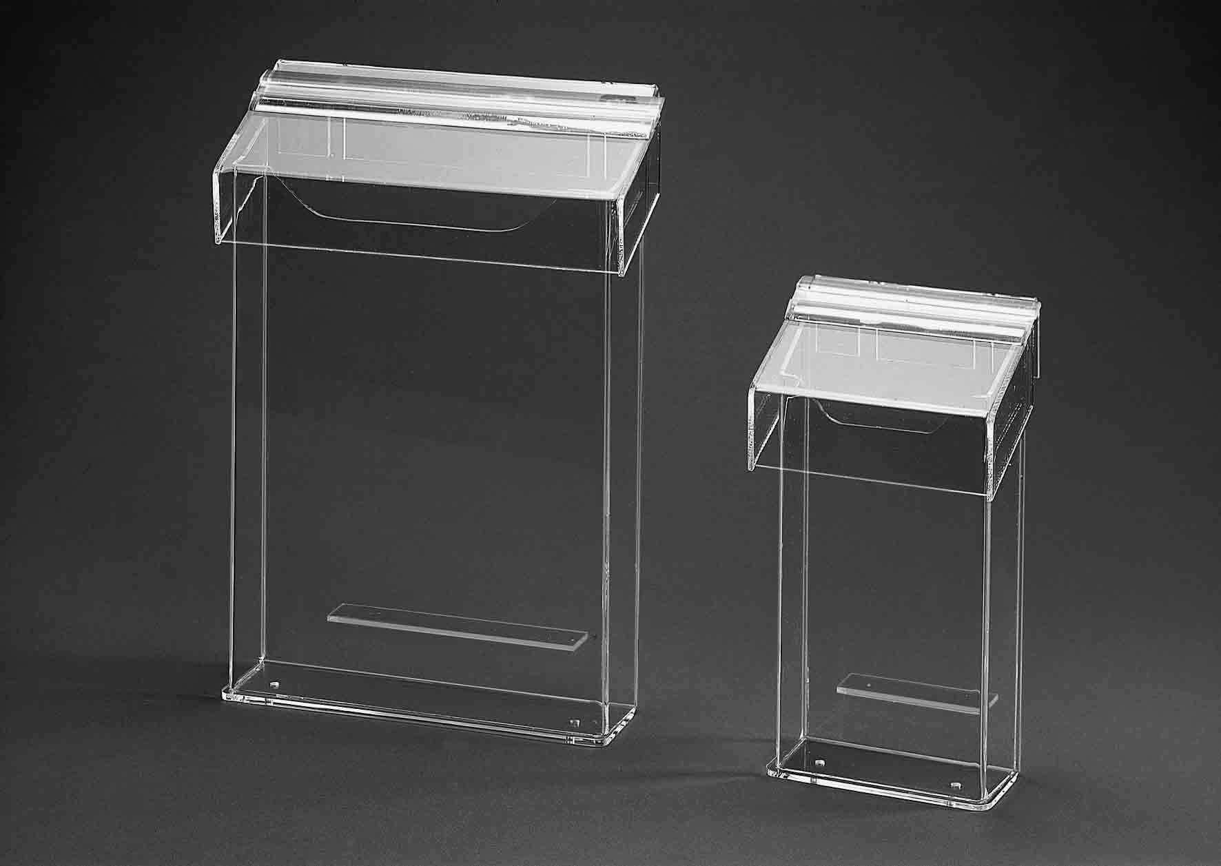 prospektst nder aus plexiglas. Black Bedroom Furniture Sets. Home Design Ideas